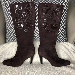 Antonio Melani Suede Zip up boots